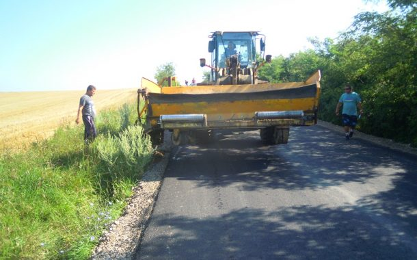 Lucrări de asfaltare finalizate pe drumul județean 161B Turda - Ploscoș