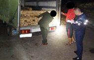 FOTO - Transport cu acte false! Două camioane au fost confiscate la Mănăstireni