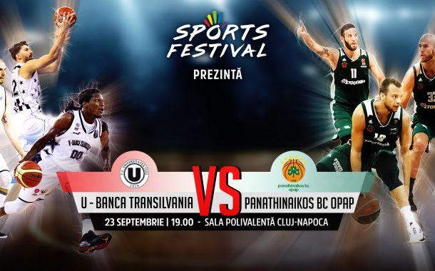U-Banca Transilvania – Panathinaikos Atena, meciul anului la Cluj