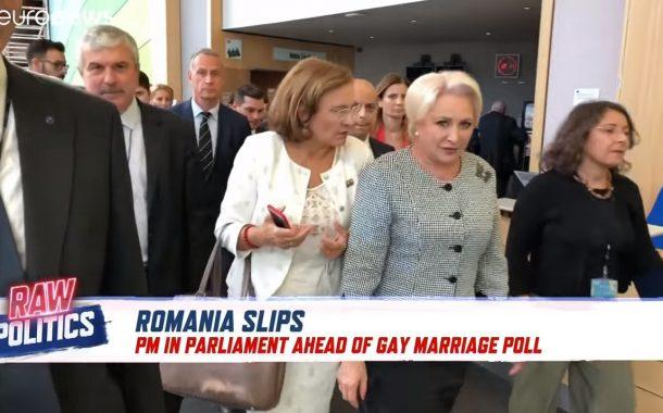 VIDEO - Dăncilă și Toader au fugit de un reporter Euronews