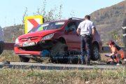 VIDEO - Motociclist strivit de o mașină la Câțcău, decedat pe loc. A pierdut controlul într-o curbă