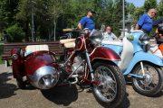 Expoziție de motociclete retro în Parcul Central din Cluj-Napoca