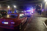 FOTO - Șofer rupt de beat, carambol la podul N. Doi copilași răniți
