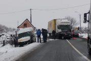 FOTO - Accident mortal în județul Cluj. Drum european acoperit de polei