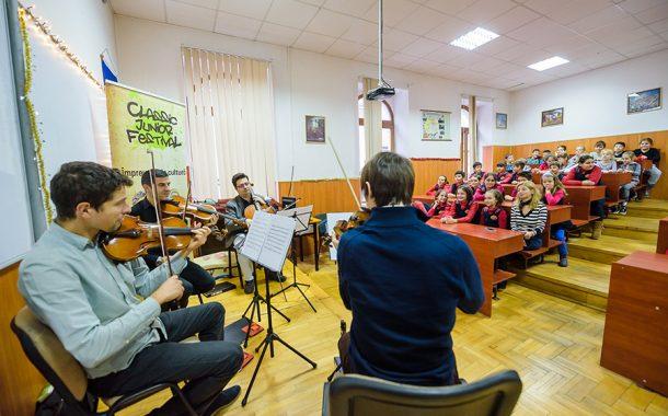 Muzica clasică se apropie de elevii de la 10 școli din Cluj-Napoca, la Classic Junior Festival