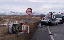 FOTO - Accident pe centura de la Apahida, 3 răniți